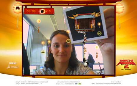 Experience Kung Fu Panda 2 in 3D Augmented Reality