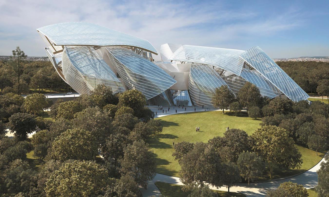 Louis Vuitton Foundation for Creation by Frank O. Gehry in the Bois de Boulogne