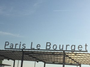 Paris Air Show sign at Le Bourget