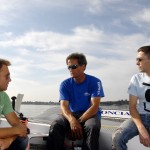Left to right: Thomas, Michel and Quentin