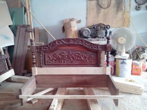 The reborn sofa during manufacturing phase