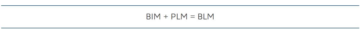 BIM + PLM = BLM