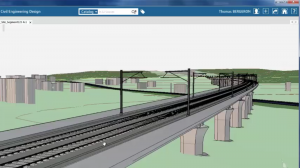 "Railway/bridge structure using ""Civil Design"""