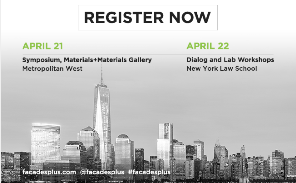 Register for Facades+ 2016