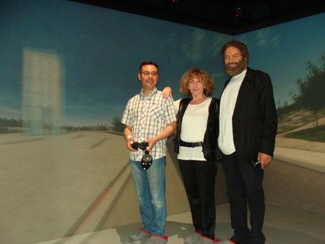 Clara & Marek Halter with Mehdi Tayoubi @3DS