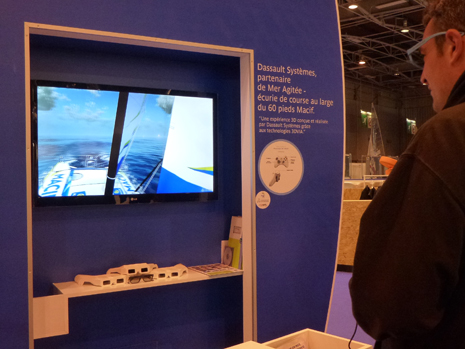 Visit the MACIF 60ft monohull in real-time 3D at the Salon Nautique in Paris