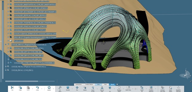 Conceptual skin model from the architect MARC FORNES/THEVERYMANY
