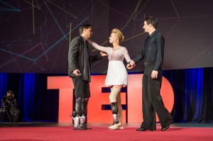 Photo of Adrianne Haslet-Davis and Hugh Herr at TED