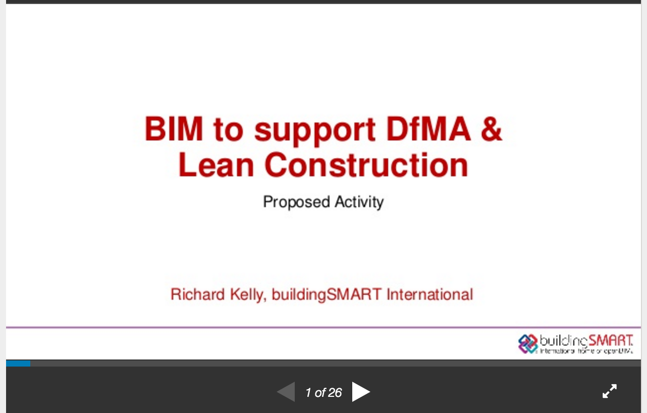 buildingSMART - BIM and DfMA Slideshare