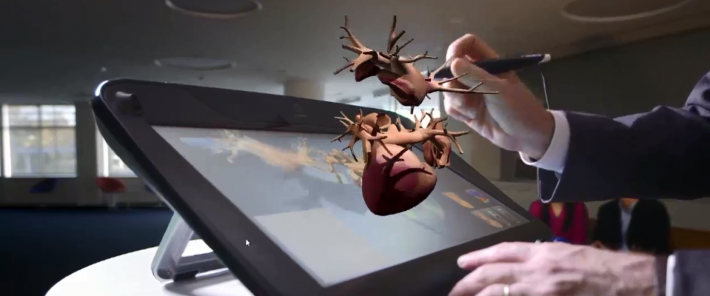 Augmented reality heart