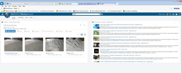 Dashboard created for project stakeholders; Images show an in-process skin test