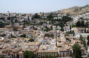 Aerial view of Albaicin , Granada City Spain