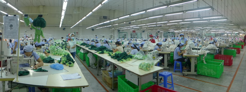 Sewing Room in Softtoy factory in HCMC