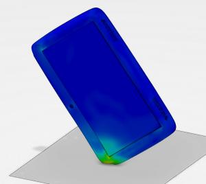 Tablet drop simulation