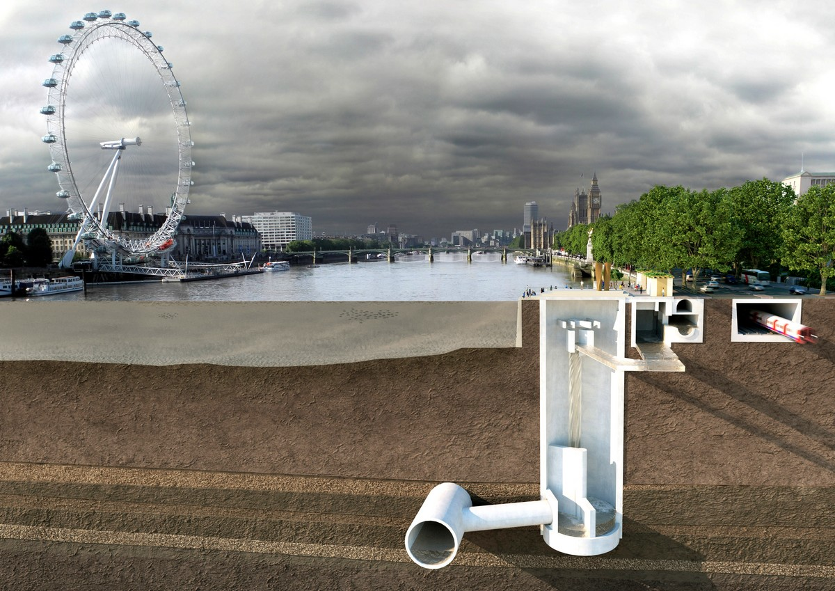 Tideway is building the Thames Tideway Tunnel to tackle the problem of overflows from London's Victorian sewers for at least the next 100 years, and enable the UK to meet European environmental standards. (Image © Tideway)