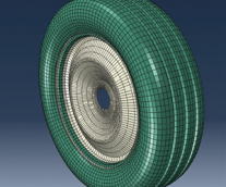 Modeling Tire Burst in the Small Overlap Frontal Crash Simulations