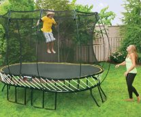Engineering a Safer Bounce for the Backyard Trampoline