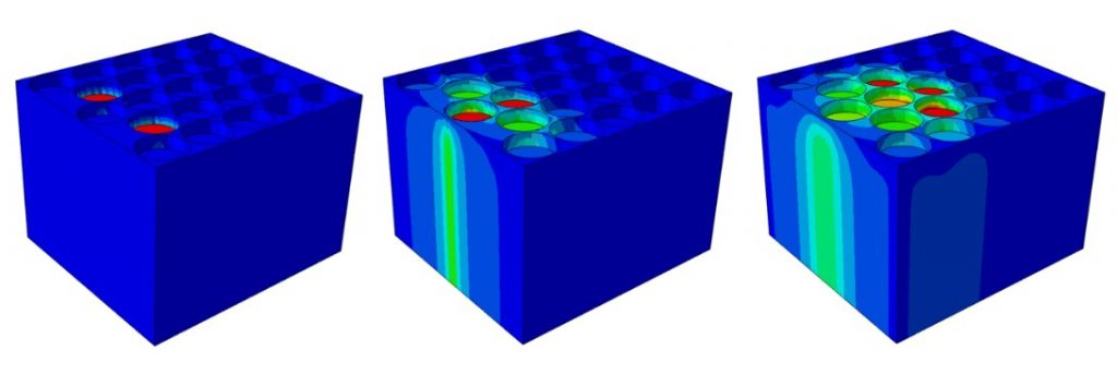 Abaqus Simulation, thermal runaway in cylinder batteries